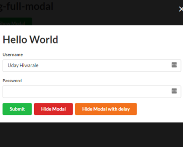 Angular Full Modal Service