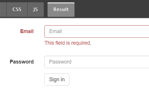 Bootstrap Form Validation For Angular