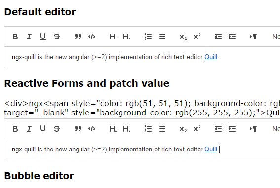 Angular 2+ Component For Quill Editor - ngx-quill | Angular