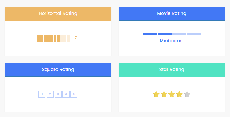 Minimal Bar Rating Component For Angular 2+