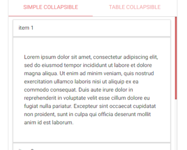 Angular 4 Materialize CSS Collapsible Components