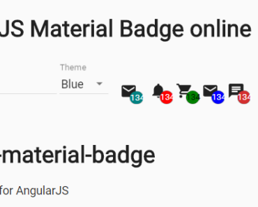 Material Badge For AngularJS