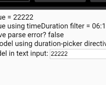 Angular Duration Picker Directive
